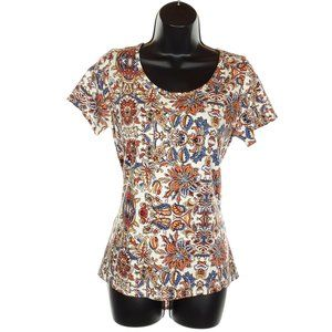 LULAROE Floral Tunic Blouse Top T-shirt XS Stretch
